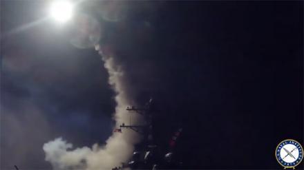 Ракетный удар американского флота по силам Асада
