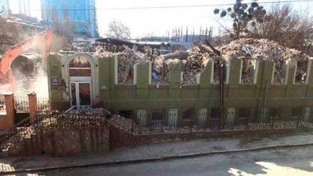 Разрушенная усадьба Уткина в Киеве