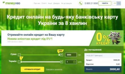 кредит онлайн на карту новий банк