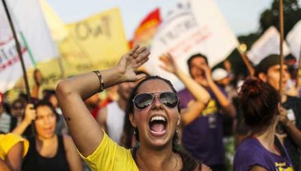 Антикоррупционные протесты в Бразилии