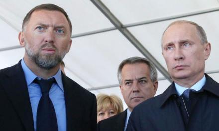 Олег Дерипаска и Владимир Путин