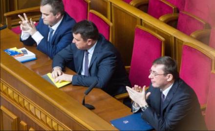 Назар Холодницкий, Артем Сытник и Юрий Луценко