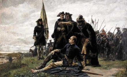 Мазепа и Карл XII после Полтавской битвы