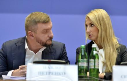 Министр юстиции Павел Петренко и его первый заместитель Наталья Бернацкая (Севостьянова)