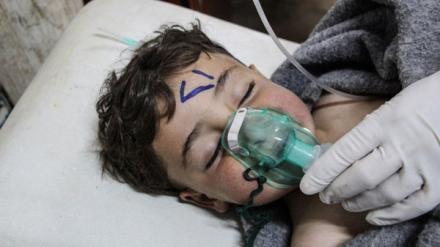 """Сирия, провинция Идлиб, последствия применения правительственными войсками отравляющего вещества """"зарин""""."""