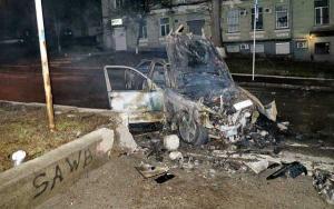 ДТП и пожар в центре Киева