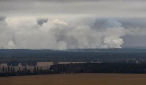 Пожар на арсенале Минобороны в Ичне